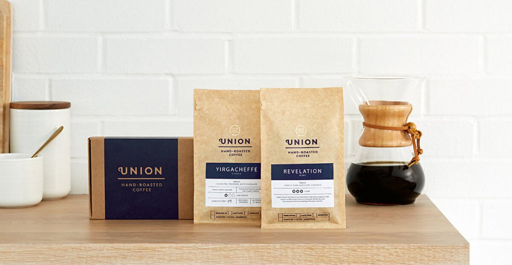 Union Hand roasted coffee subscription