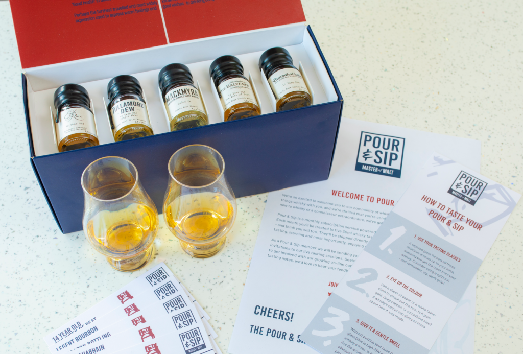 Pour & Sip Whisky taster subscription box